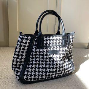 Midnight Houndstooth Vera Bradley Satchel Bag